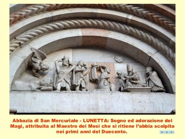 Abbazia di San Mercuriale - LUNETTA: Sogno ed adorazione dei  Magi, attribuita al Maestro dei Mesi che si ritiene l'abbia ...