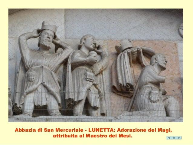 Abbazia di San Mercuriale - LUNETTA: Adorazione dei Magi,  attribuita al Maestro dei Mesi.