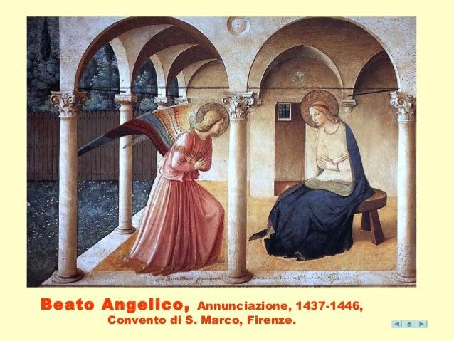 Beato Angelico, Annunciazione, 1437-1446,  Convento di S. Marco, Firenze.