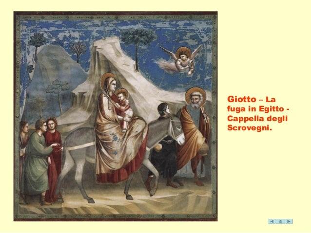 Giotto – La  fuga in Egitto -  Cappella degli  Scrovegni.