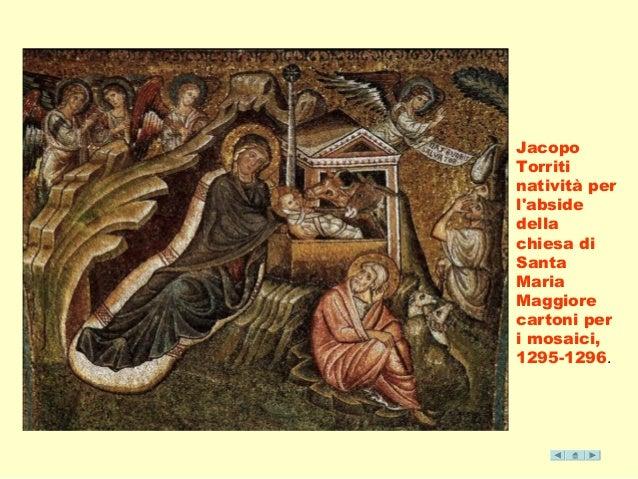 Jacopo  Torriti  natività per  l'abside  della  chiesa di  Santa  Maria  Maggiore  cartoni per  i mosaici,  1295-1296.
