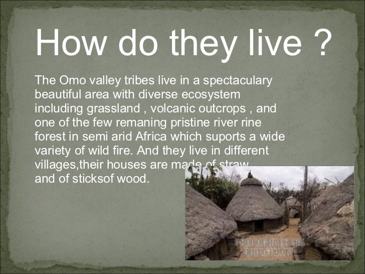 How do they live ? The Omo valley tribes live in a spectaculary beautiful area with diverse ecosystem including grassland ...