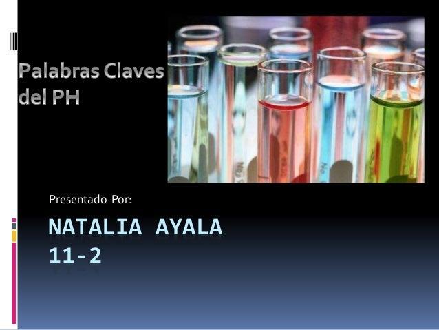 NATALIA AYALA 11-2 Presentado Por: