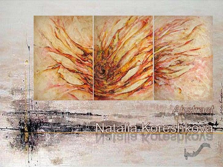 NataliaKoreshkova<br />Abstract<br />