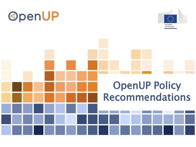 OpenUP Policy Recommendations