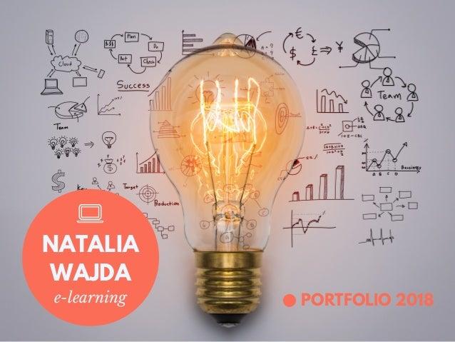 PORTFOLIO 2018e-learning NATALIA WAJDA