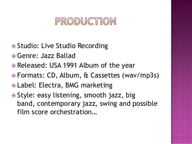  Studio: Live Studio Recording Genre: Jazz Ballad Released: USA 1991 Album of the year Formats: CD, Album, & Cassettes...