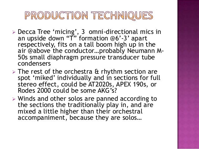 """ Decca Tree """"micing"""", 3 omni-directional mics inan upside down """"T"""" formation @6""""-3"""" apartrespectively, fits on a tall boo..."""