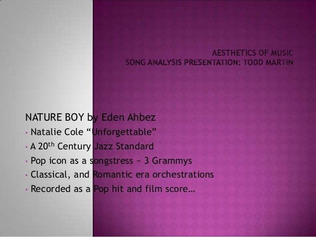 "NATURE BOY by Eden Ahbez• Natalie Cole ""Unforgettable""• A 20th Century Jazz Standard• Pop icon as a songstress ~ 3 Grammys..."