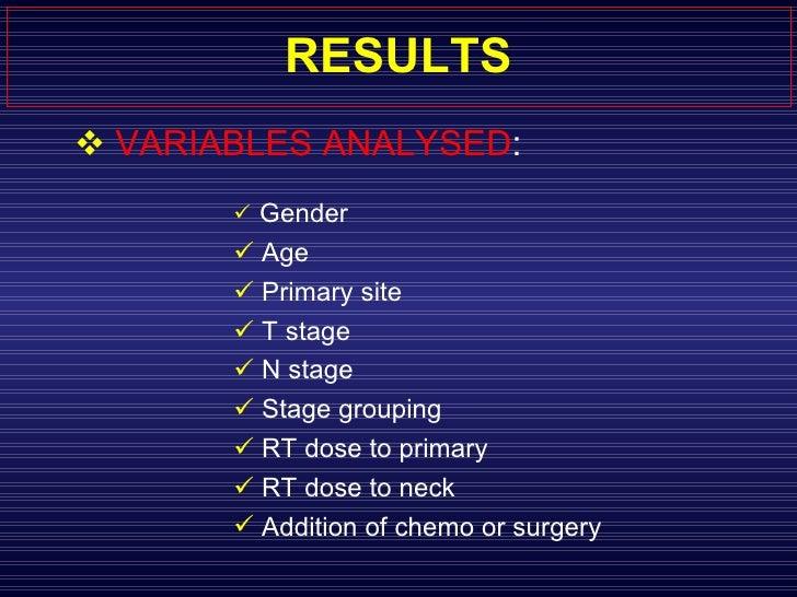 RESULTS <ul><li>VARIABLES ANALYSED :  </li></ul><ul><ul><ul><ul><ul><li>Gender  </li></ul></ul></ul></ul></ul><ul><ul><ul>...