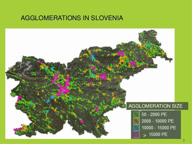 AGGLOMERATIONS IN SLOVENIA 3 > AGGLOMERATION SIZE