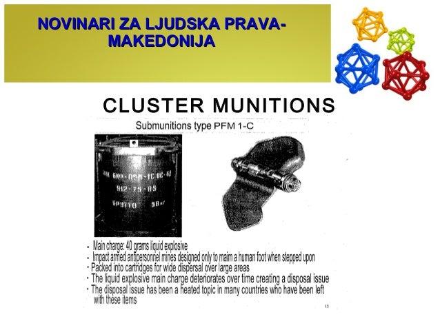 CLUSTER MUNITIONS NOVINARI ZA LJUDSKA PRAVA-NOVINARI ZA LJUDSKA PRAVA- MAKEDONIJAMAKEDONIJA