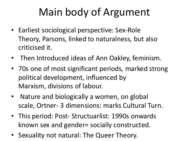 Gender and Sexuality Essay