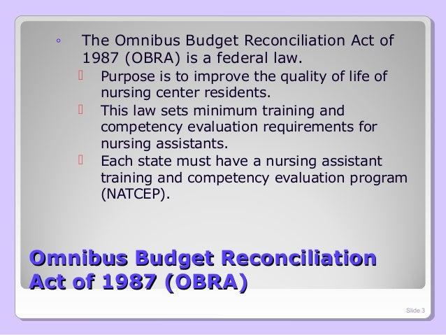 omnibus budget reconciliation act of 1987 obra