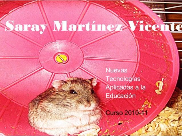 Saray Martínez Vicente Nuevas Tecnologías Aplicadas a la Educación Curso 2010-11