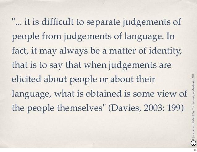 """""""If you heard me speak, I'd be you'd think I was white"""" - Problematising teacher identity in TESOL Slide 3"""