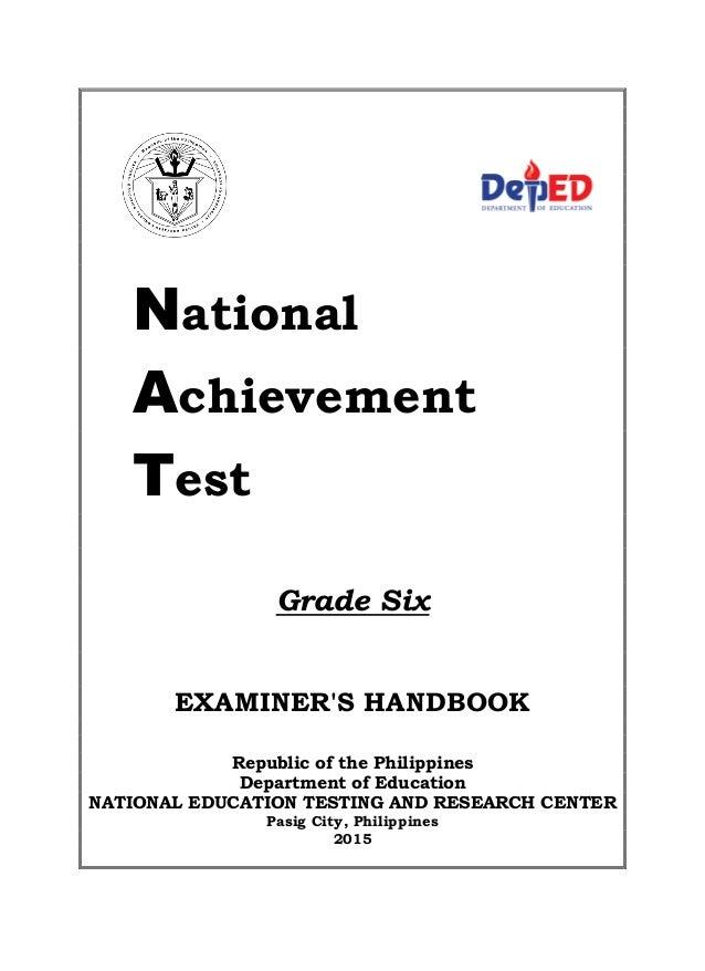 Nat Examiners Handbook Grade 6 2015