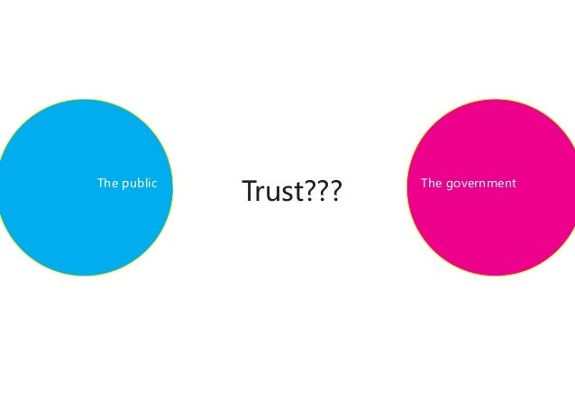 Trust???The public              The government