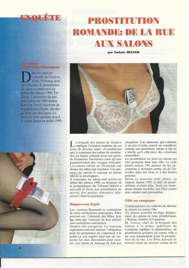 Nathalie Emilie Helfer, enquête journalistique sur la prostitution
