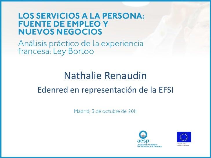 Nathalie RenaudinEdenred en representación de la EFSI