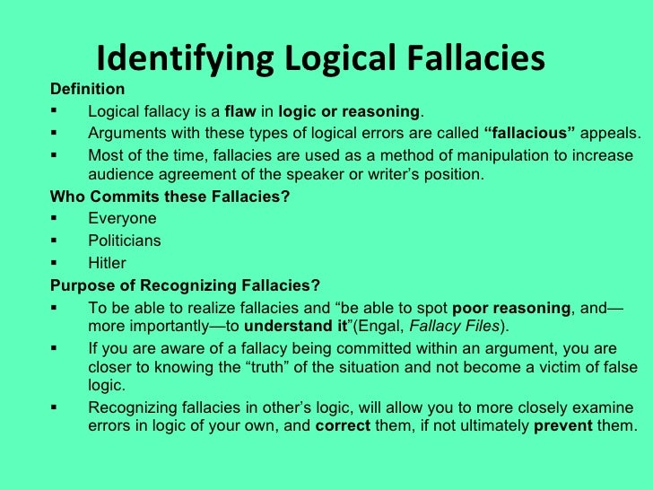 Fallacies their meanings