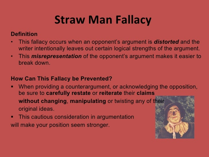 Straw Man Examples