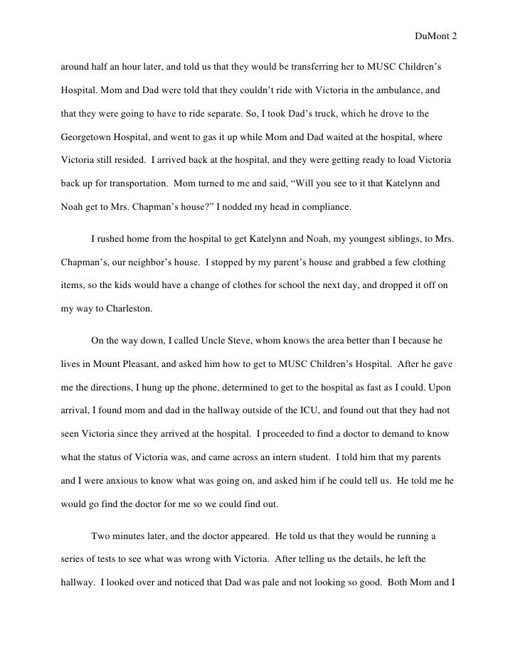 memoir essay the doctor came in 2