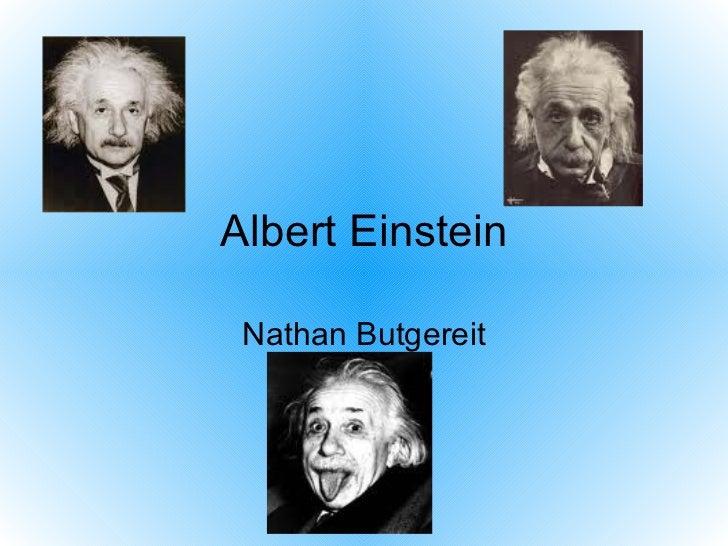 Albert Einstein Nathan Butgereit
