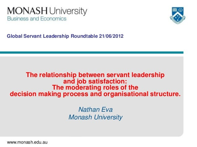 Global Servant Leadership Roundtable 21/06/2012      The relationship between servant leadership                  and job ...