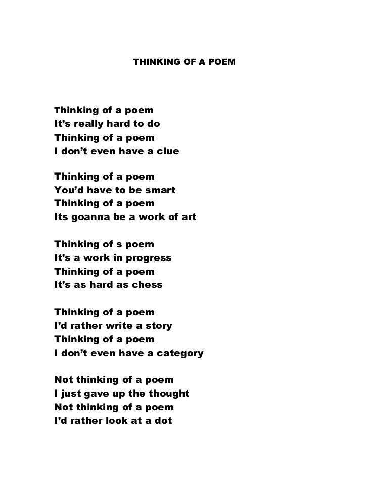 Easy poem to write a paper on