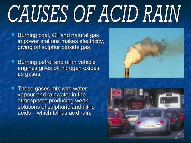 case study of acid rain