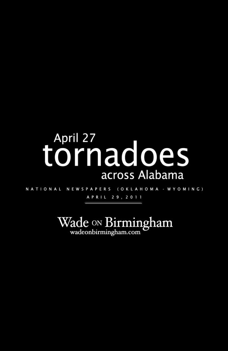 April 27, 2011, tornadoes - national newspaper front pages from April 29 (OK-WY)