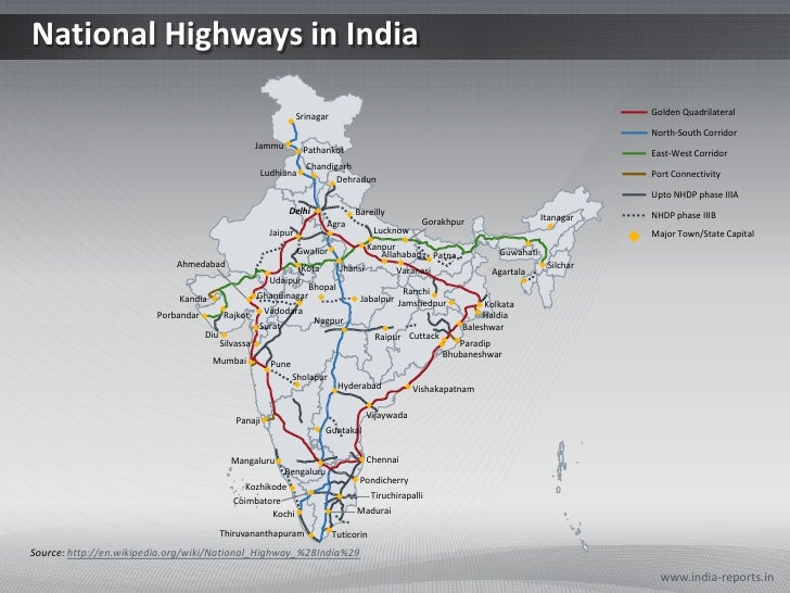 indian national highways map National Highways India Ppt Map indian national highways map