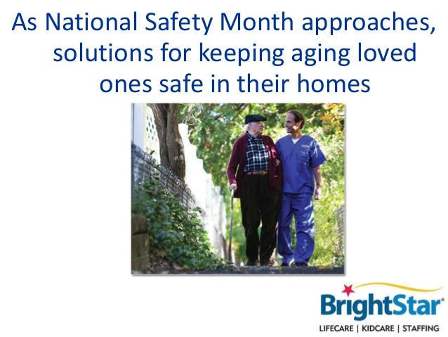 As National Safety Month approaches, solutions for keeping aging loved ones safe in their homes