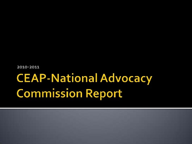 CEAP-National Advocacy Commission Report<br />2010-2011<br />