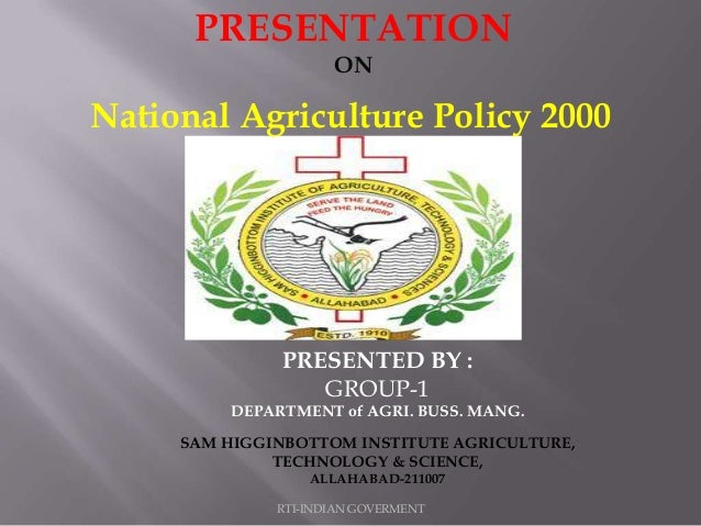 RTI-INDIAN GOVERMENT PRESENTATION ON PRESENTED BY : GROUP-1 DEPARTMENT of AGRI. BUSS. MANG. SAM HIGGINBOTTOM INSTITUTE AGR...