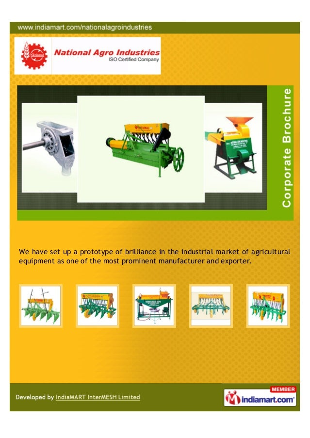 We have set up a prototype of brilliance in the industrial market of agriculturalequipment as one of the most prominent ma...