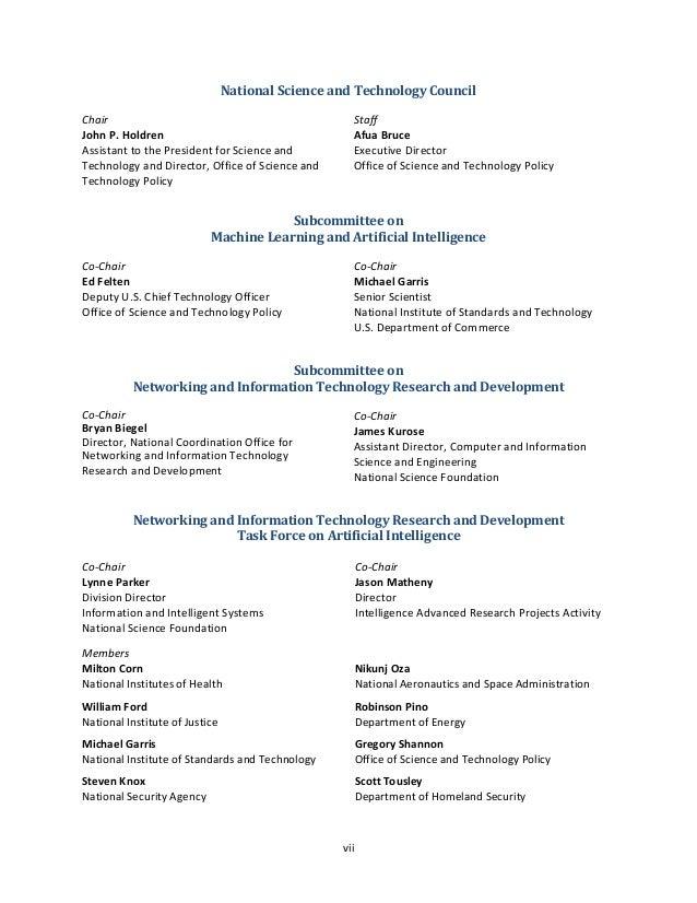 viii John Launchbury Defense Advanced Research Projects Agency Faisal D'Souza Technical Coordinator National Coordination ...