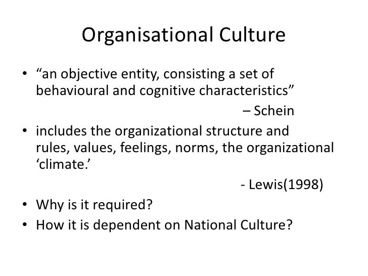organizational structure and culture relationship