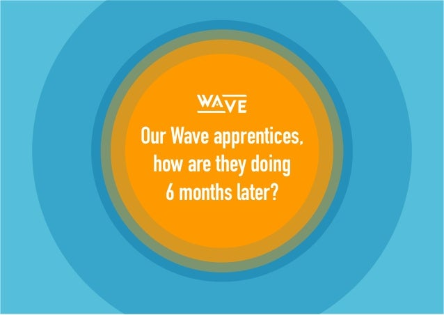 Our Wave apprentices, how are they doing 6 months later?