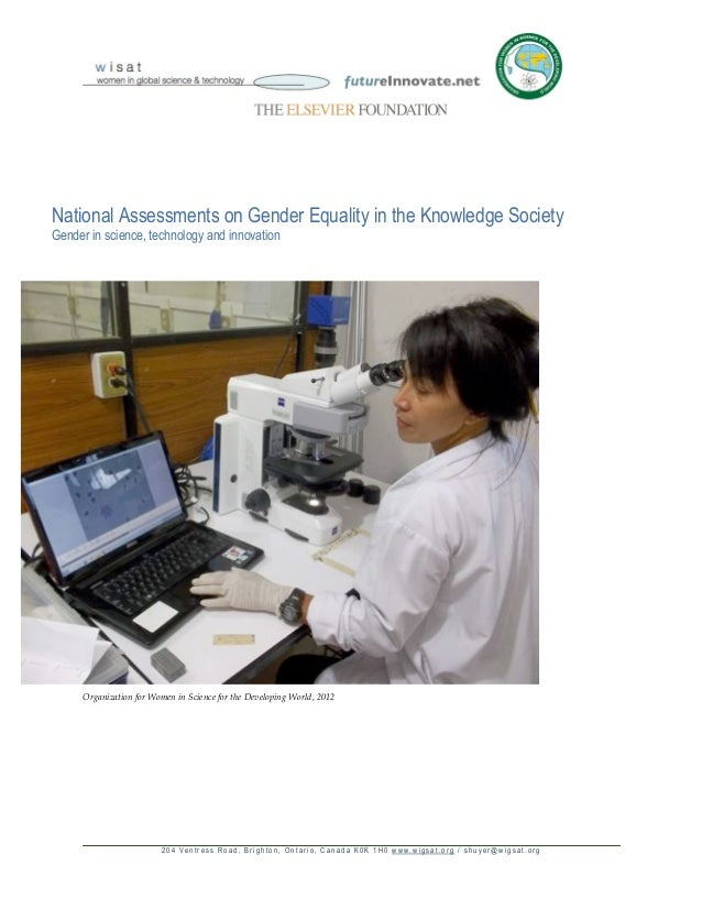 National Assessments on Gender Equality in the Knowledge SocietyGender in science, technology and innovation     Organizat...
