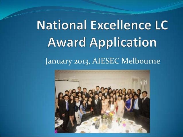 January 2013, AIESEC Melbourne
