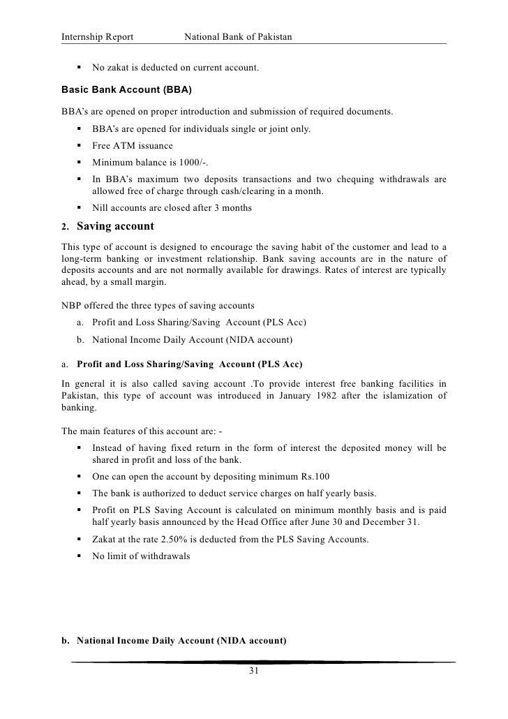 39 internship report national bank