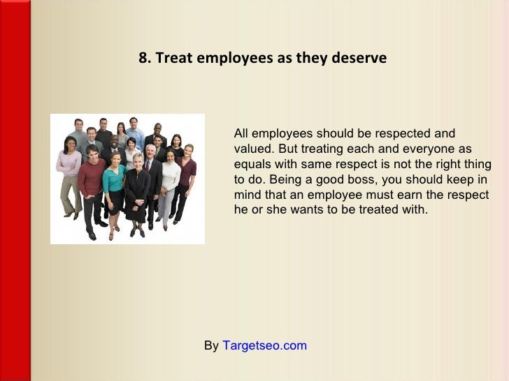 10 Tips on Being a Good Boss