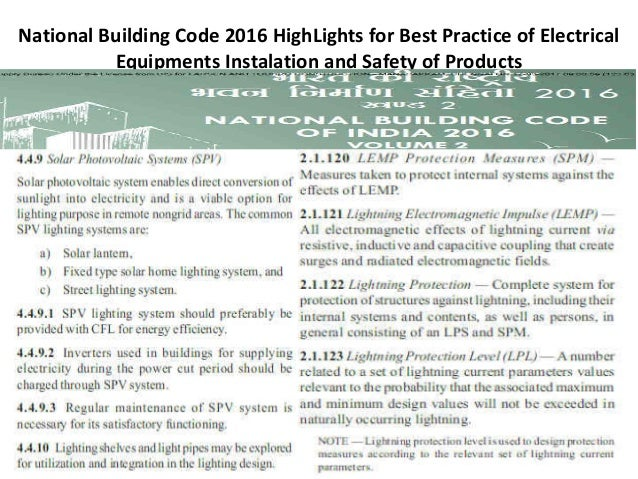 National building code 2016 by (bis) and Product Offering by JMV LPS…