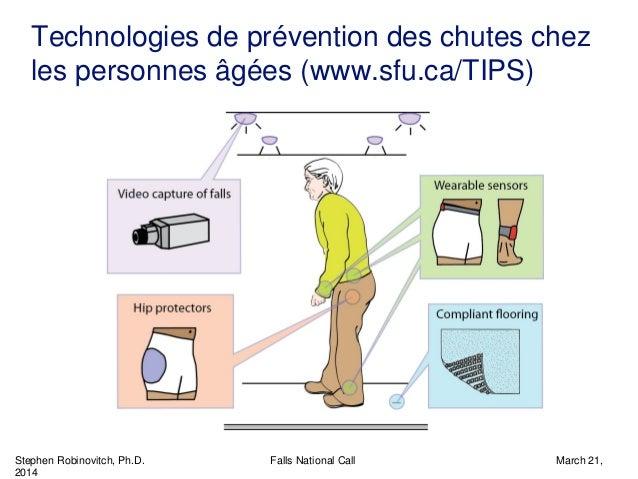 Stephen Robinovitch, Ph.D. Falls National Call March 21, 2014 Technologies de prévention des chutes chez les personnes âgé...