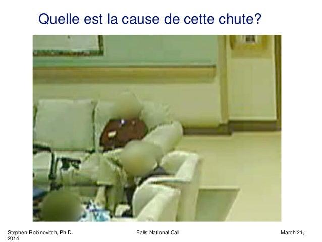 Stephen Robinovitch, Ph.D. Falls National Call March 21, 2014 Quelle est la cause de cette chute?