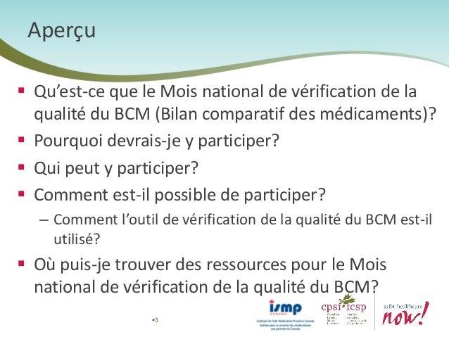 Février 2015 sera le mois de la Vérification de la qualité du BCM : Ce qu'il faut savoir pour y participer Slide 2