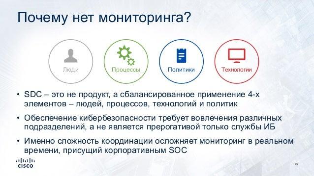 Почему нет мониторинга? 15 • SDC – это не продукт, а сбалансированное применение 4-х элементов – людей, процессов, техноло...
