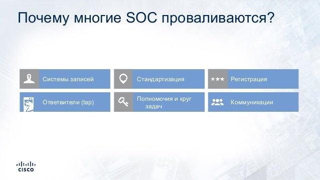 Системы записей Стандартизация Регистрация Ответвители (tap) Полномочия и круг задач Коммуникации Почему многие SOC провал...